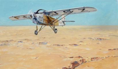 Lengellé Paul. Полет над пустыней.
