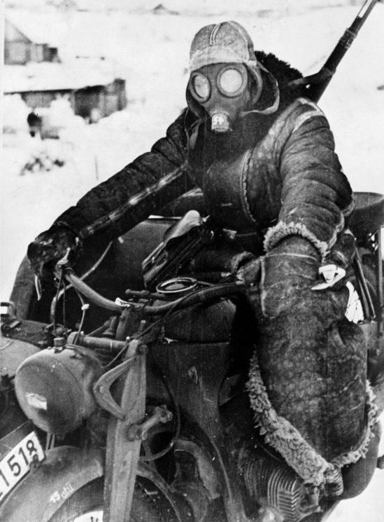 Мотоцикл Zündapp KS-750. Россия 1942 г.