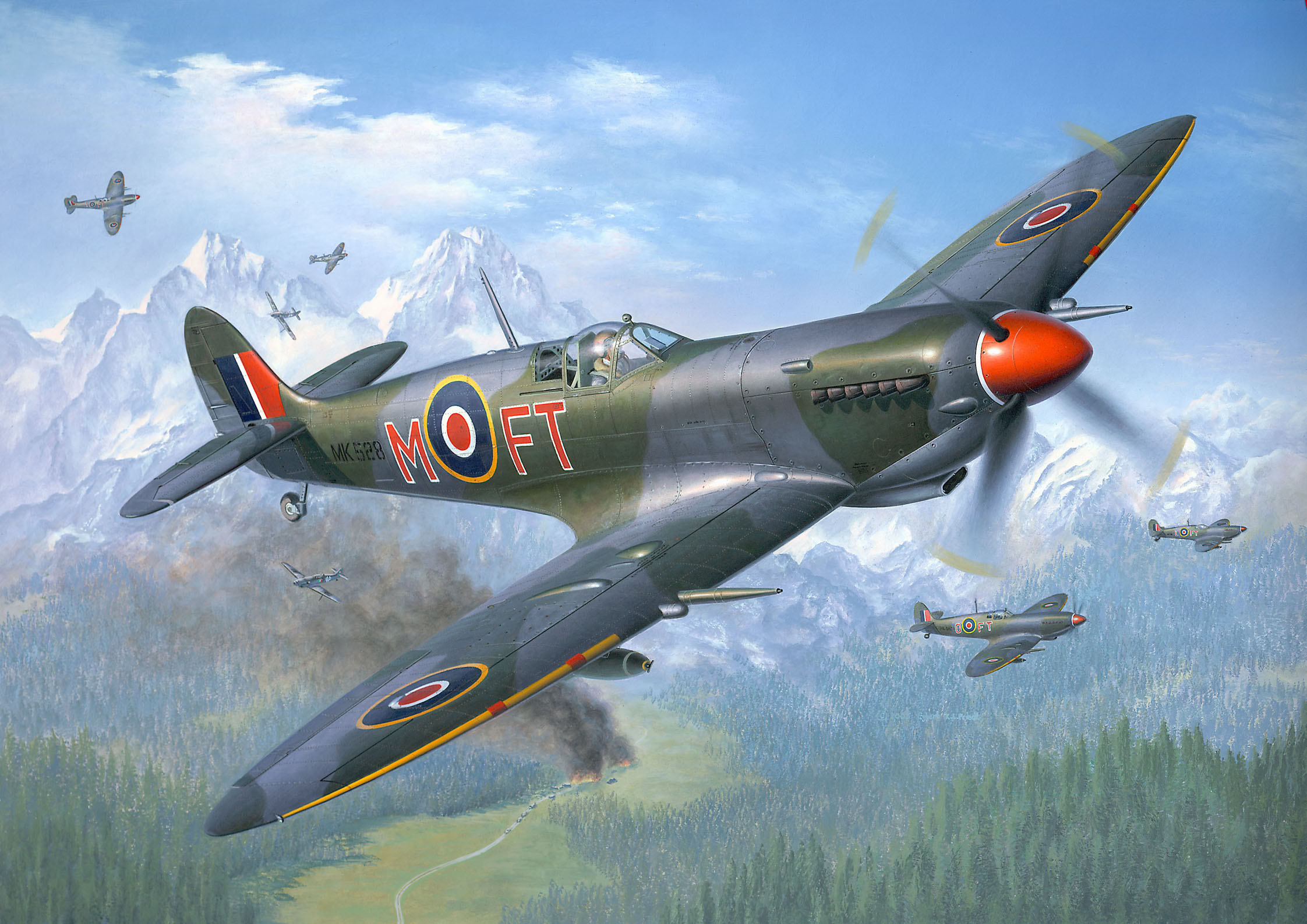 Friedl Egbert. Истребитель Spitfire Mk. IX.
