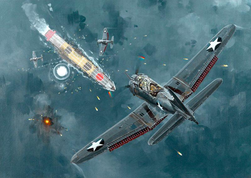 Howard Gerrard. Атака на авианосец «Hiryu».