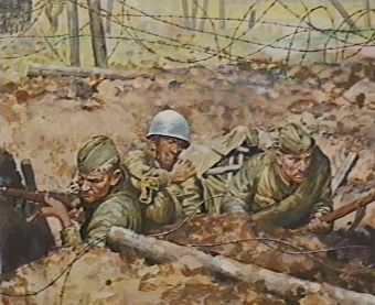 Белов Н. Диорама «Битва за высоту 200».