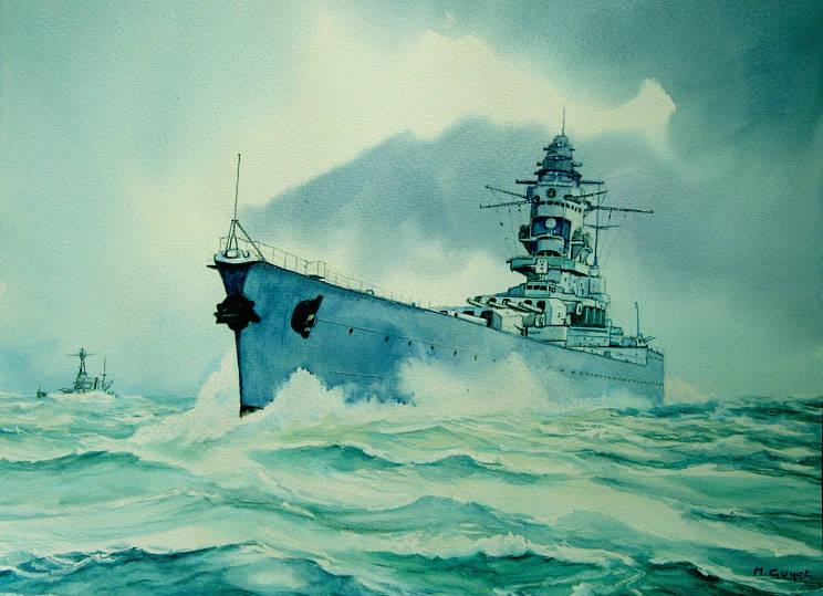 Guyot Michel. Линкор «Dunkerque».