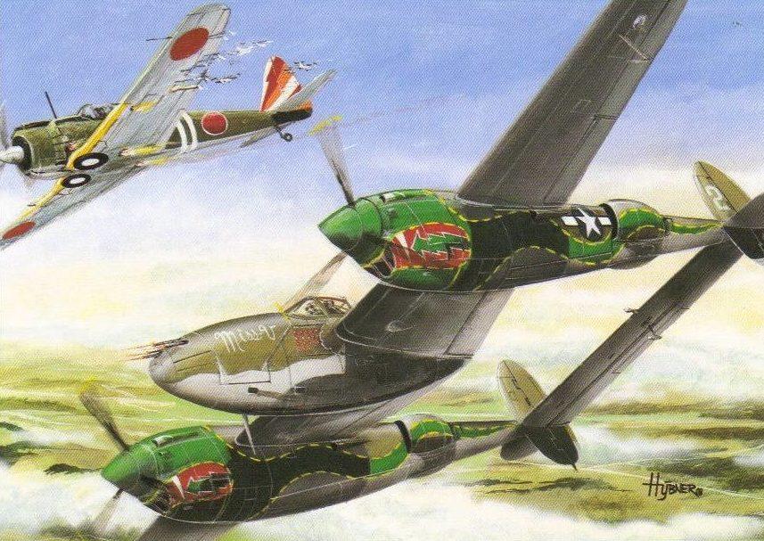 Hybner Gustav. Истребитель Р-38.