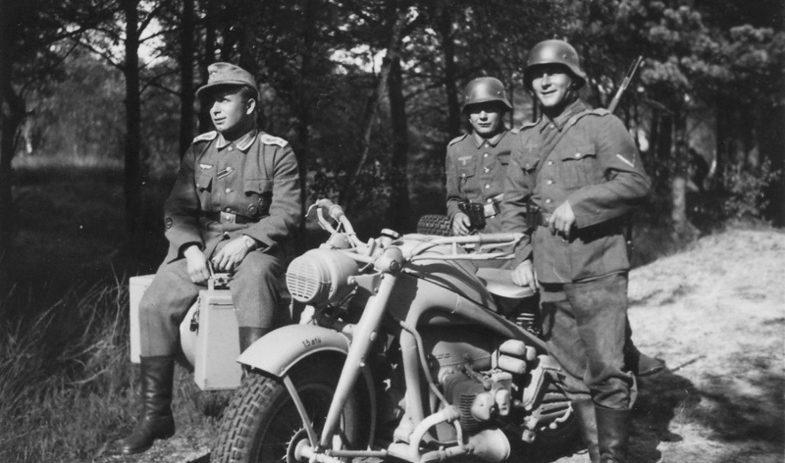 Мотоцикл Zündapp KS-750. Беларусь 1942 г.