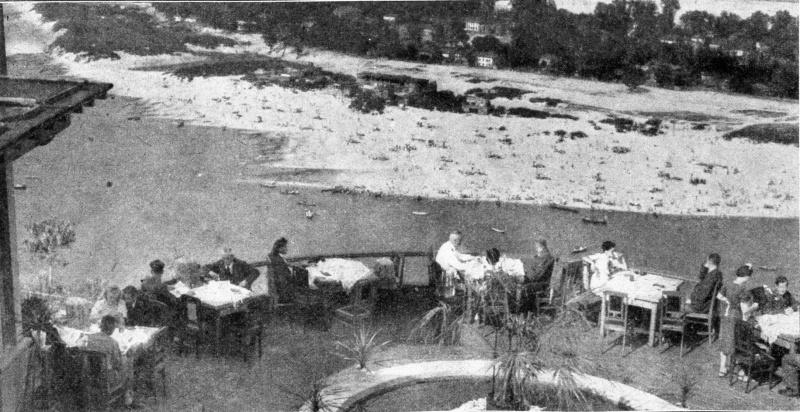 Киевское кафе «Днепровская круча». Вид на город и Днепр. 1942 г.
