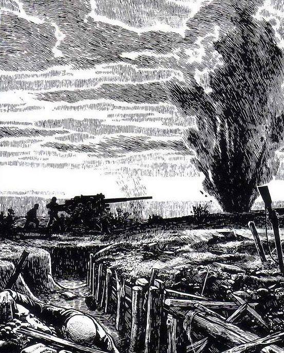 Sluyterman Georg. Артиллерийская позиция.