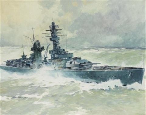 Lengellé Paul. Тяжелый крейсер «Lützow».