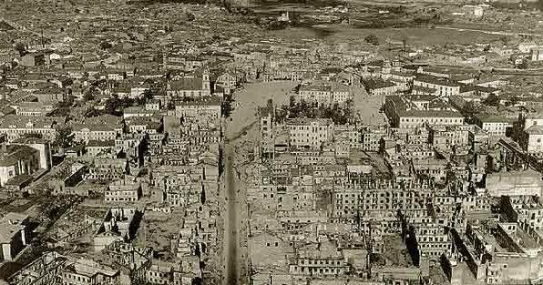 Город с высоты. Осень, 1941 г.