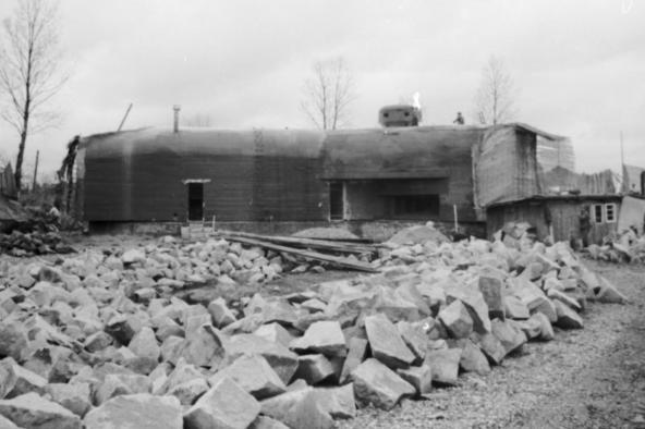 Бункер на верхнем Рейне перед рекой. 1939 г.