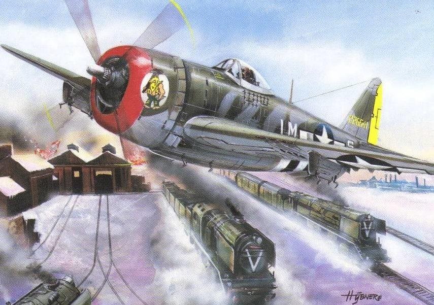 Hybner Gustav. Истребитель Р-47.