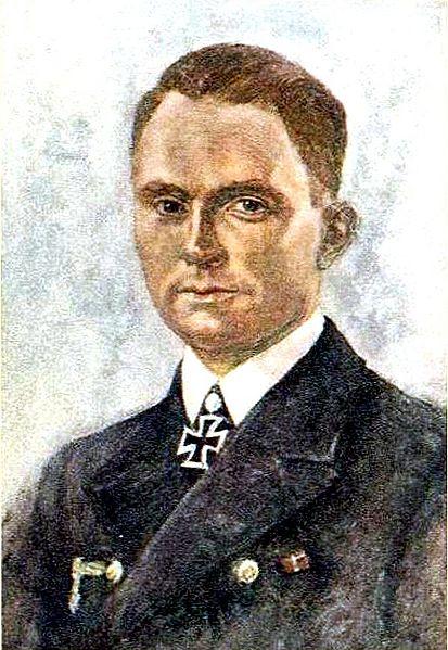Oskar Graf. Портрет Günther Prien.