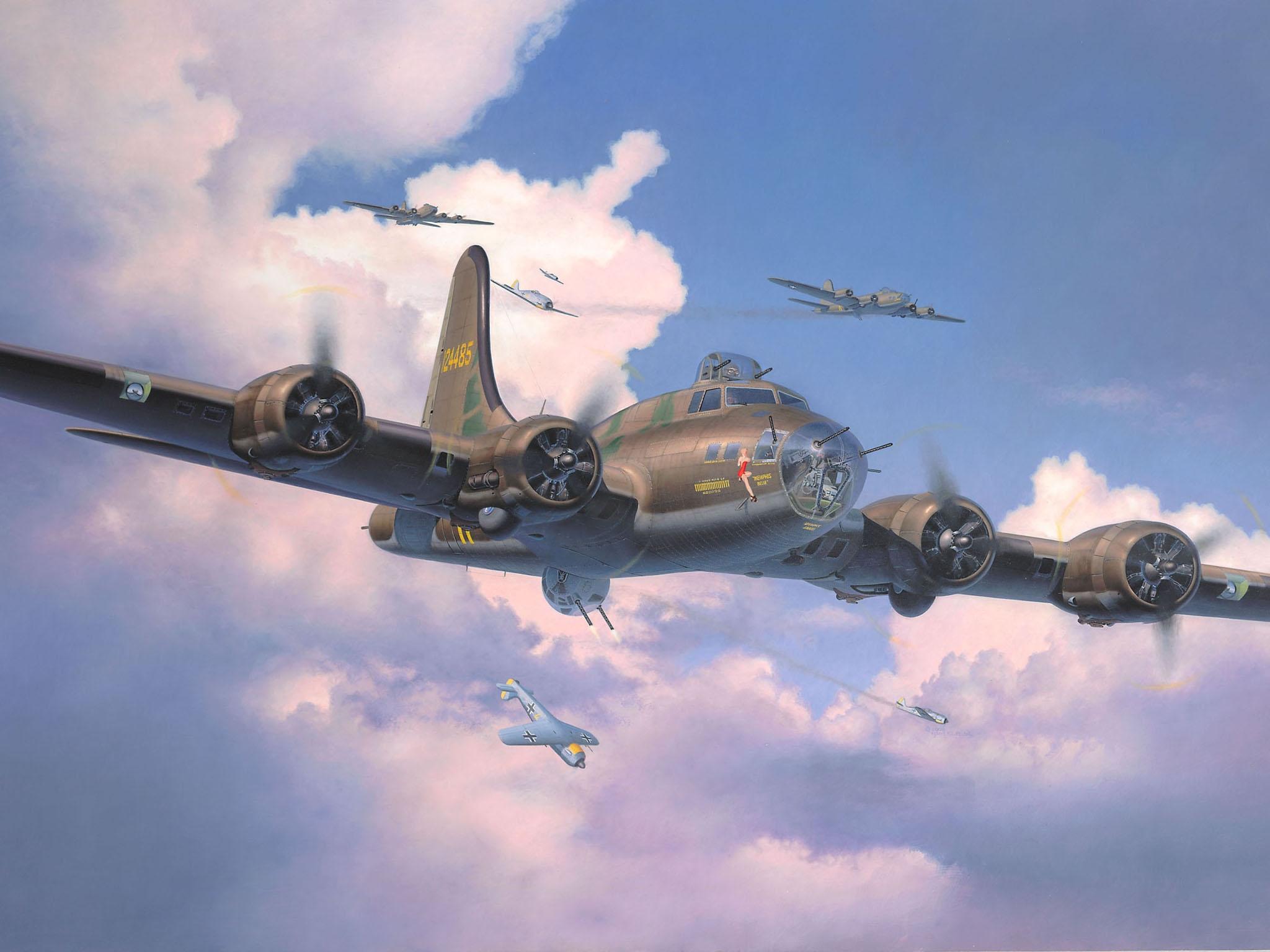 Friedl Egbert. Бомбардировщик B-17F.