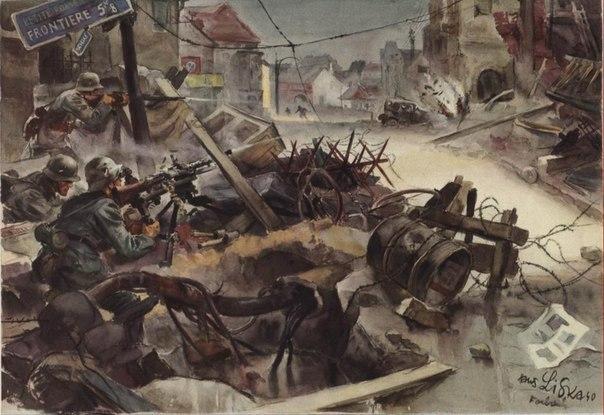 Liska Hans. Бой в городе.