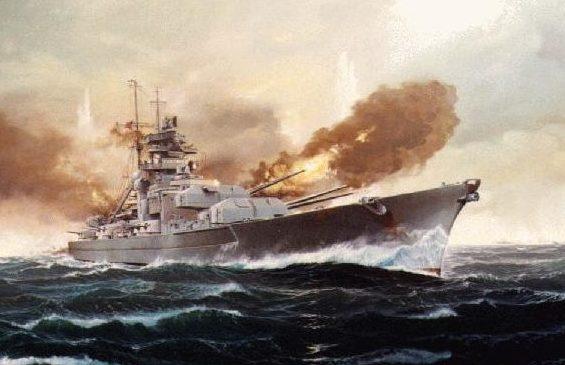 Rahardt Olaf. Линкор «Bismarck» в бою.