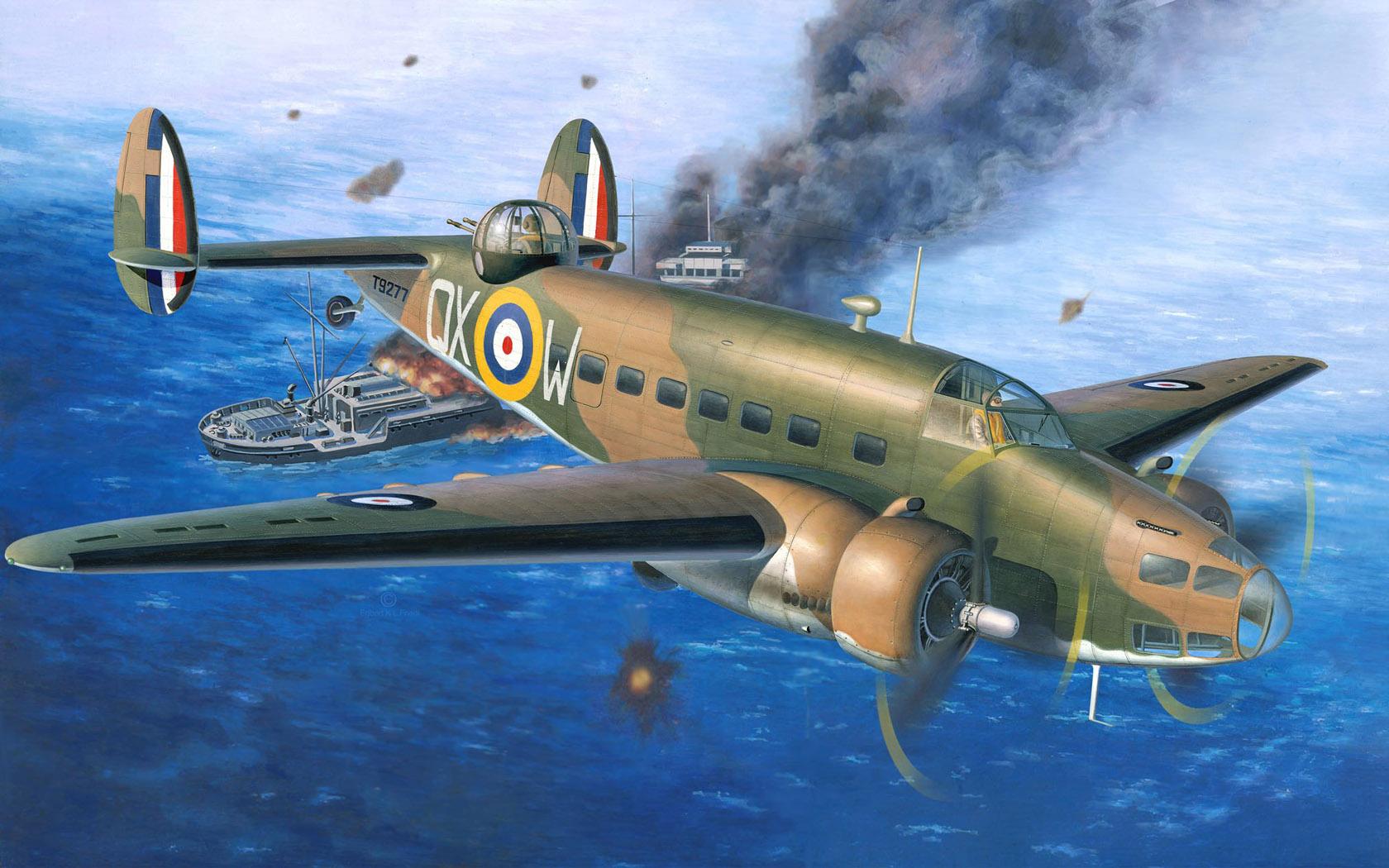 Friedl Egbert. Бомбардировщик Lockheed Hudson.