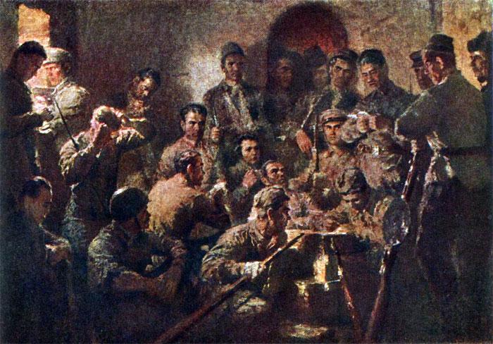 Бундин В. Партийное собрание в Восточном форту.