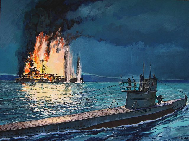 Guyot Michel. Атака подлодки U-47 на линкор «Royal Oak».