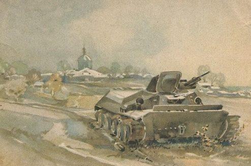 Brauner Fritz. Зима. Танки.
