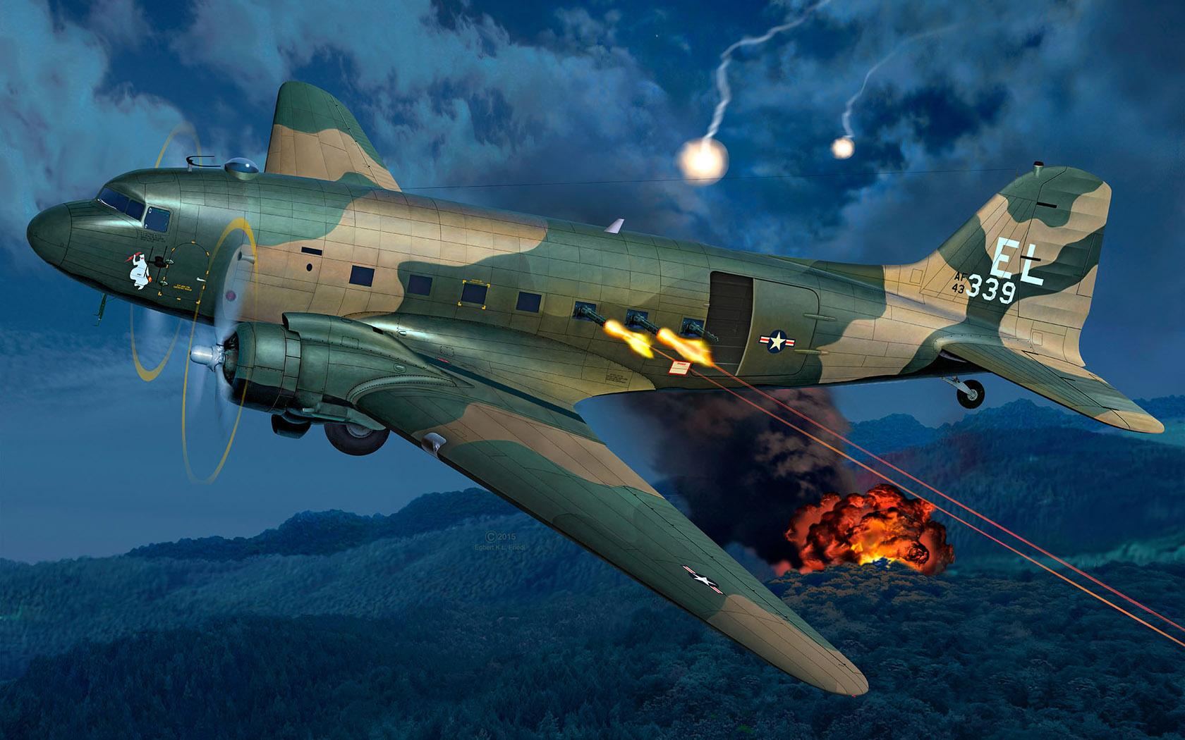 Friedl Egbert. Военно-транспортный самолет AC-47D.