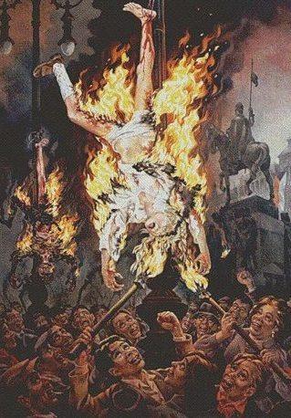 Smagon Herbert. Живой факел. Чехи сжигают живого немецкого ребенка. Прага. 20 мая 1945 года.