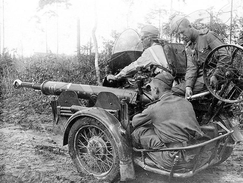 Легкая авиадесантная пушка ЧК-М1 калибром 37-мм. 1944 г.