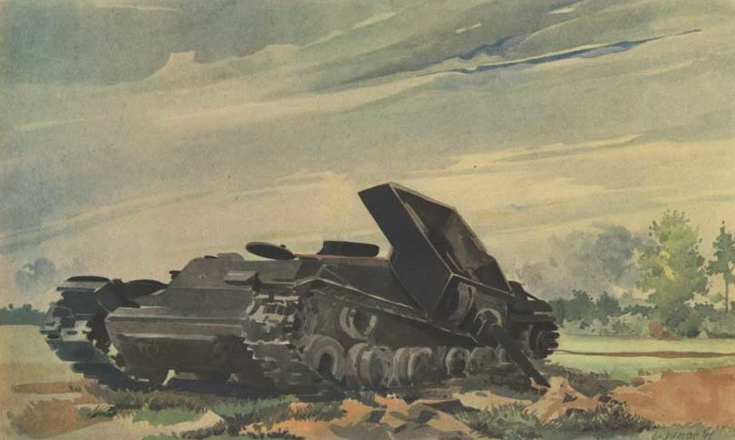 Brauner Fritz. Подбитый танк.