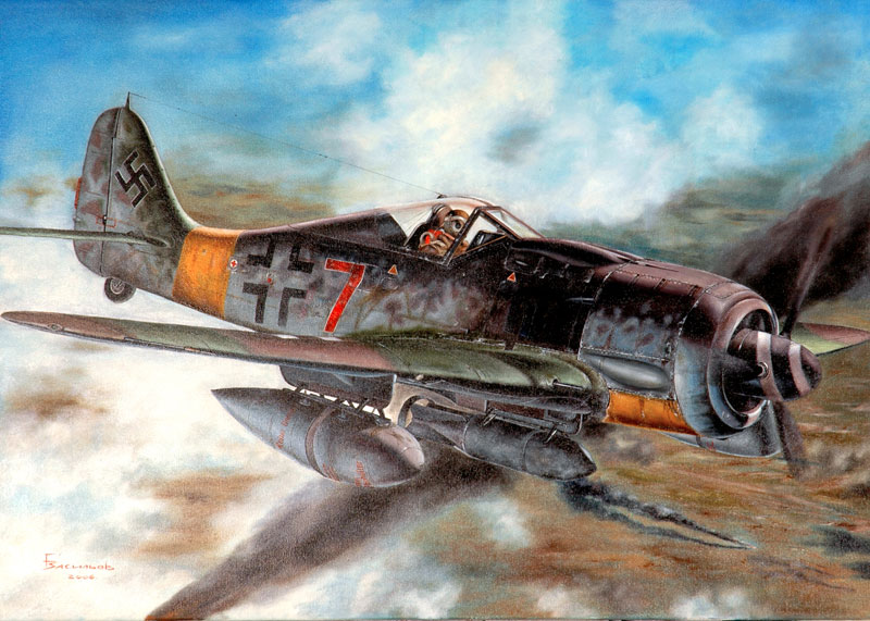 Васильев Глеб. Тяжелый истребитель W-190 G-8.