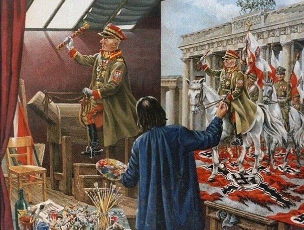 Smagon Herbert. За полгода до начала войны (Польский «главнокомандующий» Рыдз-Смиглый представлял себе ее именно так).