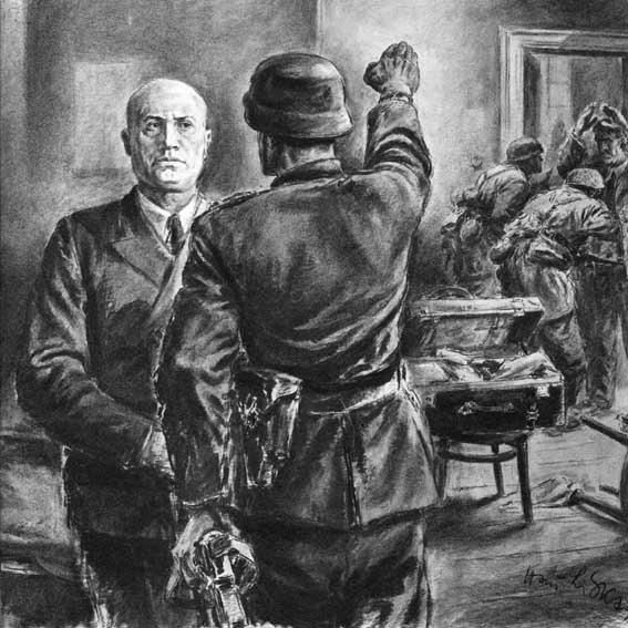 Liska Hans. Освобождение Муссолини.