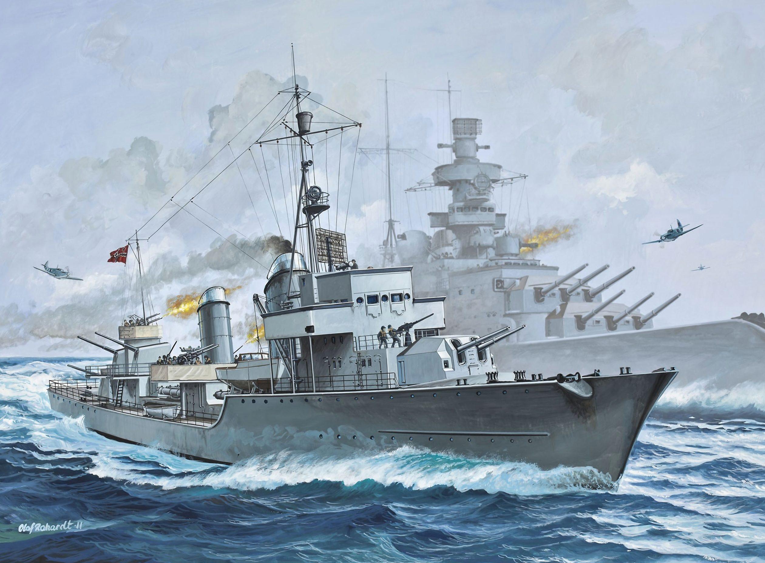 Rahardt Olaf. Миноносец Z-38.