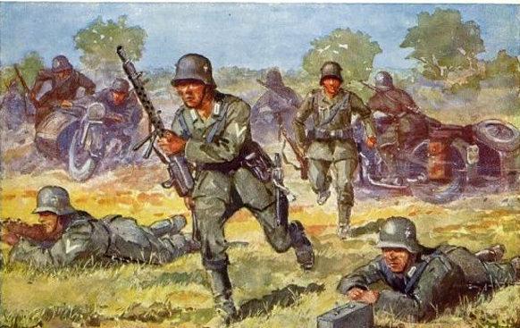 Friedmann Hans. Мотопехота в бою.