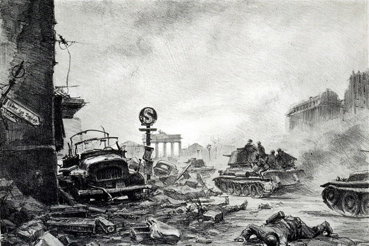 Богаткин Владимир. Унтер Ден Линден 2 мая 1945 года.