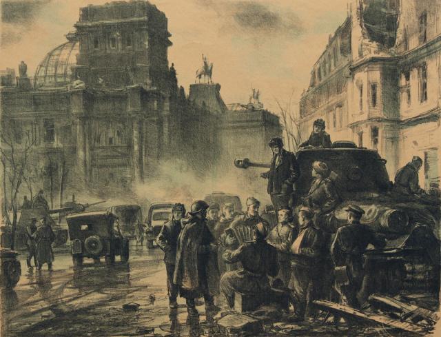 Богаткин Владимир. Советские войска в Берлине.