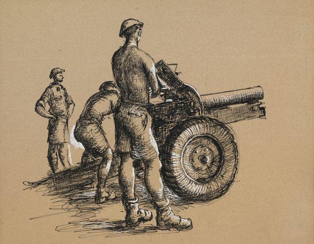 Drysdale Russell. Артиллеристы.