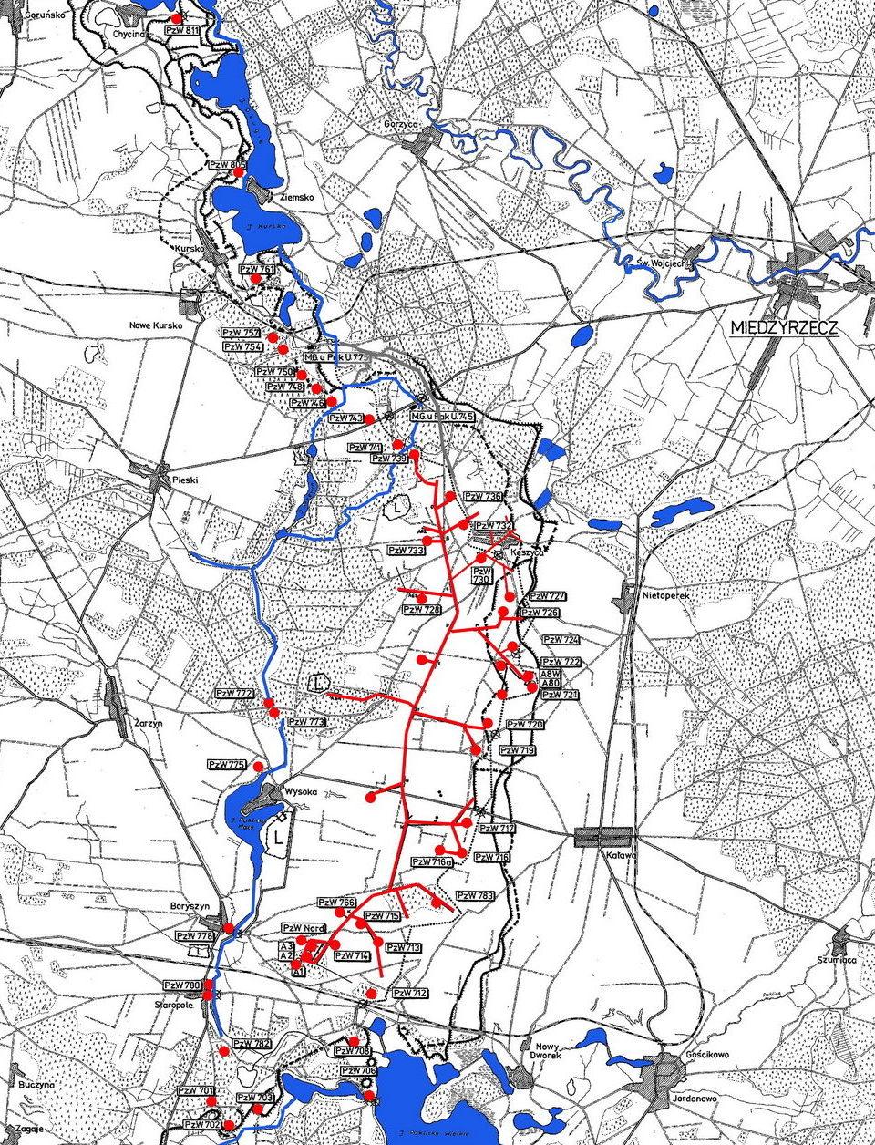 План линии OWB.