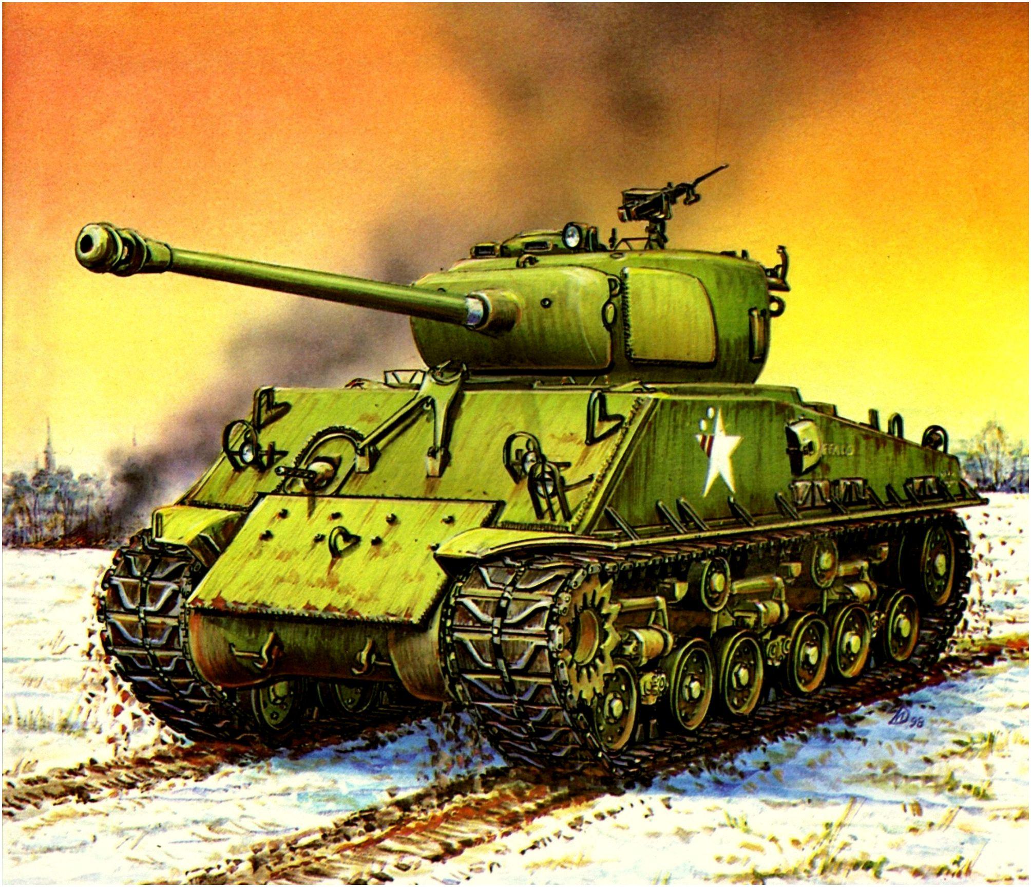 Дмитриев Михаил. Танк M-4A3E8 Sherman.