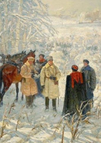 Преображенский Борис. Разгром итальянского альпийского корпуса кавалеристами.