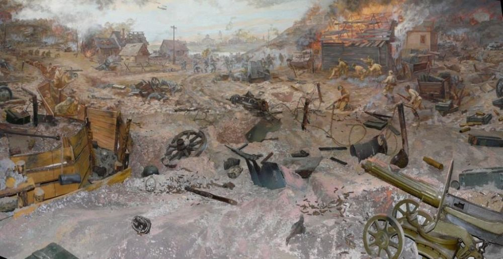 Инюхин А., Мыслин В., Хомутов О., Елисеева Т., Елисеев Е. Диорама «Бой за Ржев 24 сентября 1942 года».