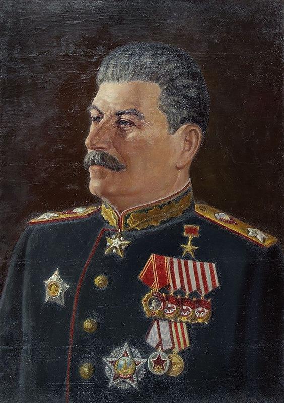 Чеков Леонид. Портрет Сталина.