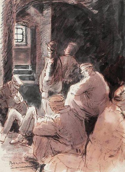 Ainsworth Edgar. Военнопленные в подвале.