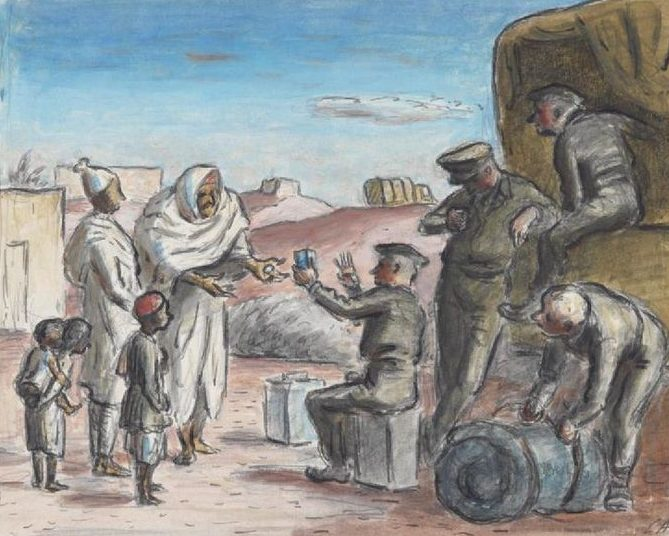 Ardizzone Edward. Арабы в лагере.