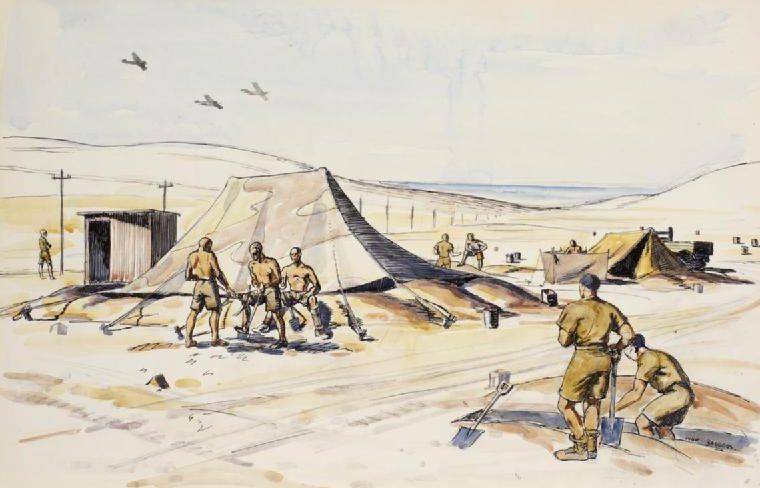 Beddoes Ivor. Лагерь в пустыне.