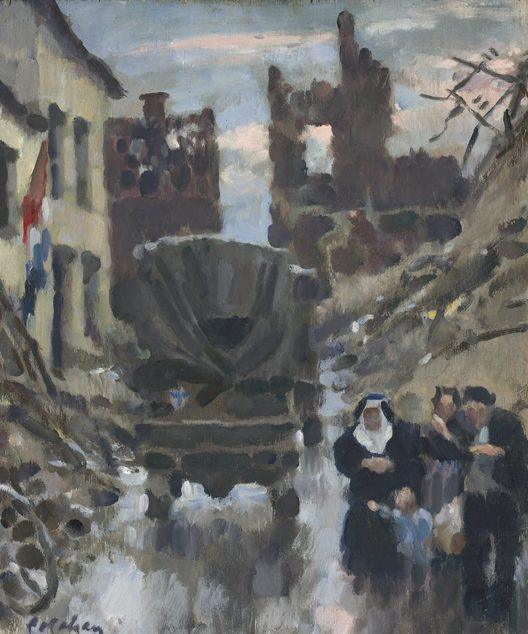Colin Colahan. Бездомные, Нормандия, 1944.