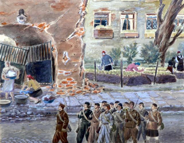 Григорьянц Патвакан. На 4-й линии Васильевского острова.