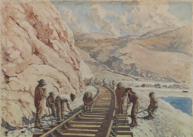 Emery James. Строительство железной дороги в Ливане.