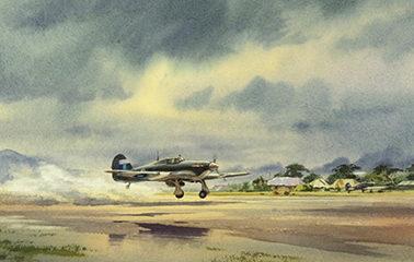 Pannett Denis. Истребитель Hawker Hurricane.