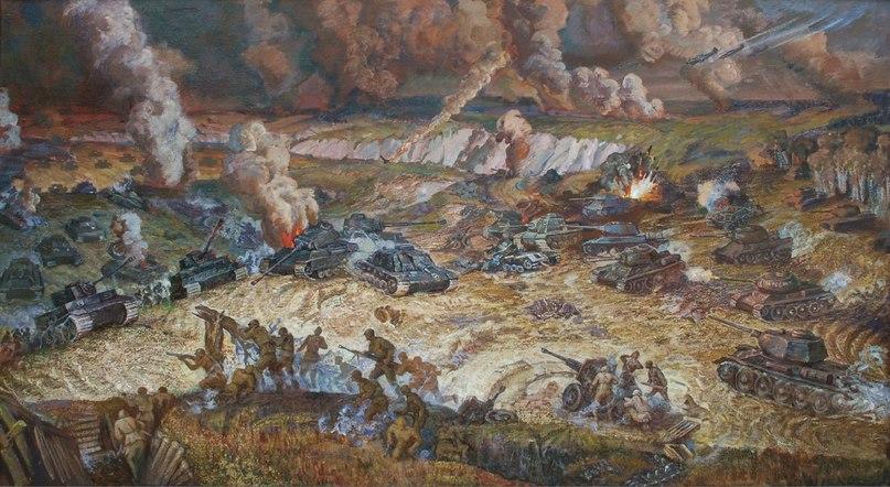 Гритчин Григорий. Танковое сражение под Белгородом.