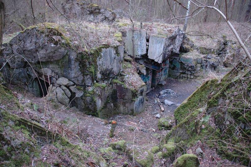 Руины бункера «Panzerwerk 754»