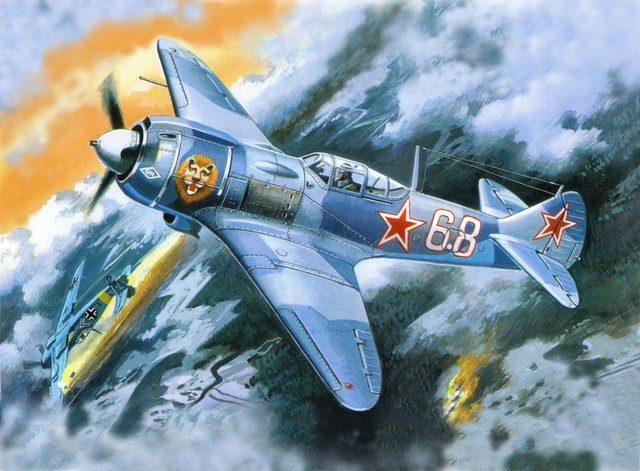 Руденко Валерий. Истребитель Ла-5ФН.