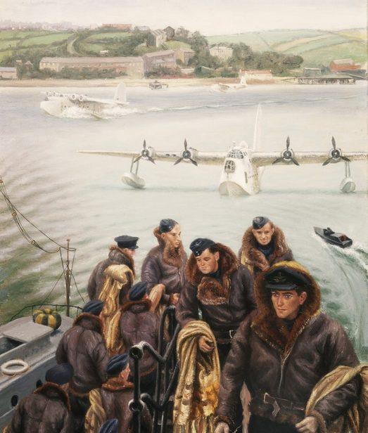 Bowen Stella. Экипаж летающей лодки.